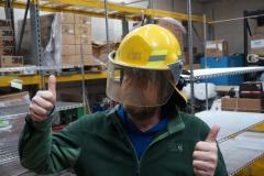 Very Nice Yellow Firefighter Helmet